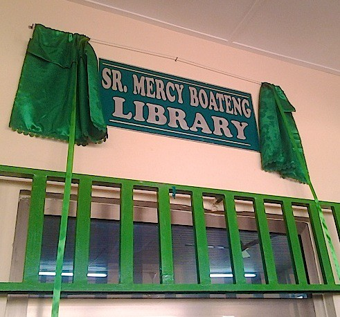 The Mercy Boateng SSL Library at the St Louis Jubilee School in Kentinkrono, Ghana