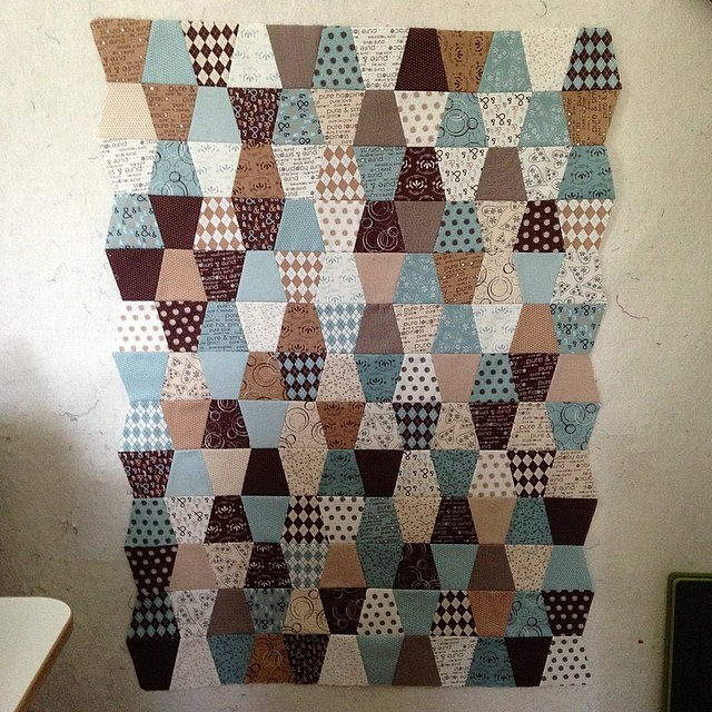 Finished tumble baby quilt top. Now back to finals.