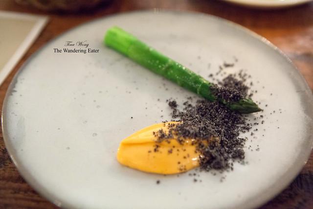 Aspargus, Black Sesame & Gochuchang