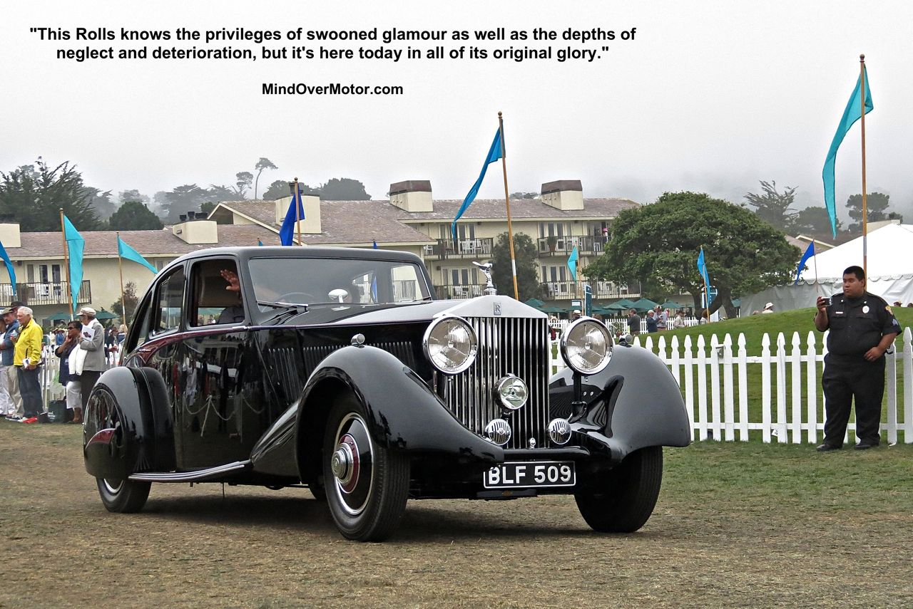 Rolls Royce Phantom II Streamline Saloon at Pebble Beach