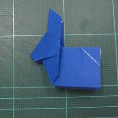 วิธีการพับกระดาษเป็นรูปกระต่าย แบบของเอ็ดวิน คอรี่ (Origami Rabbit)  023