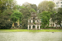 Turtle Tower in Hoan Kiem Lake, Hanoi