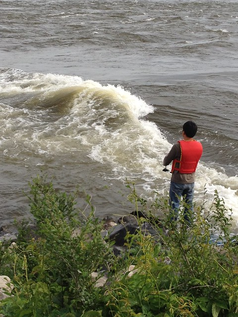 Fishing by the Rapids