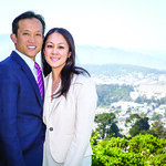 David Chiu and wife Candace Chen