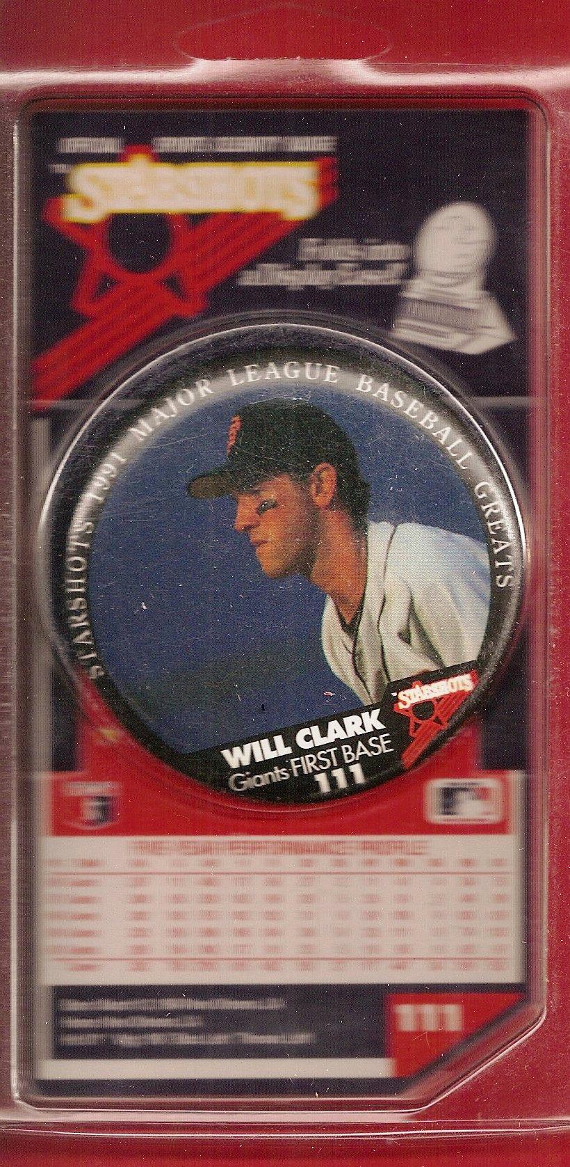 1991 Starshots Badge (Will Clark)