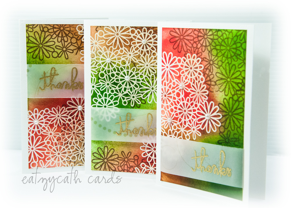 'thanks' notecard gift set