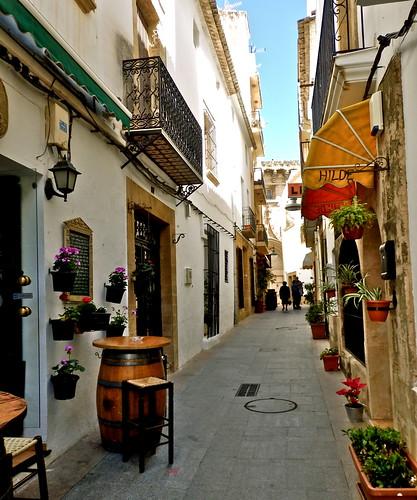 street valencia spain javea costablanca xabia callesanbartolomé