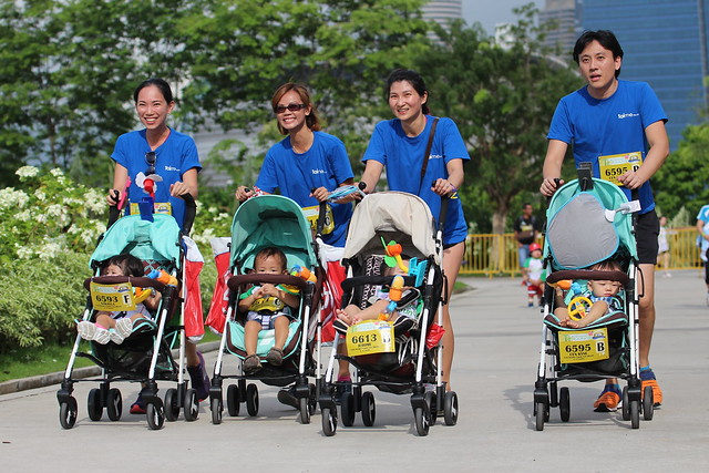 Racing with our Lucky Baby Strollers at the Cold Storage Stroller Run.