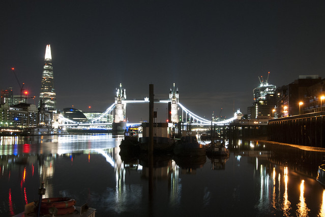 Tower Bridge, reflections & lights
