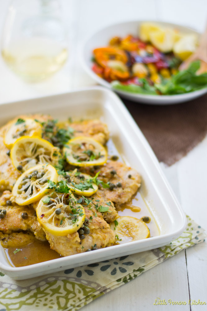 Chicken Picatta via LittleFerraroKitchen.com