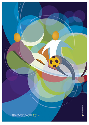 Poster Celebrating FiFa World Cup Brazil, 2014
