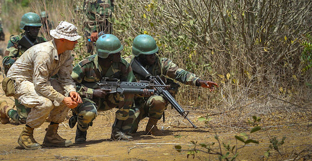 Marines, West African nations train together during WA14