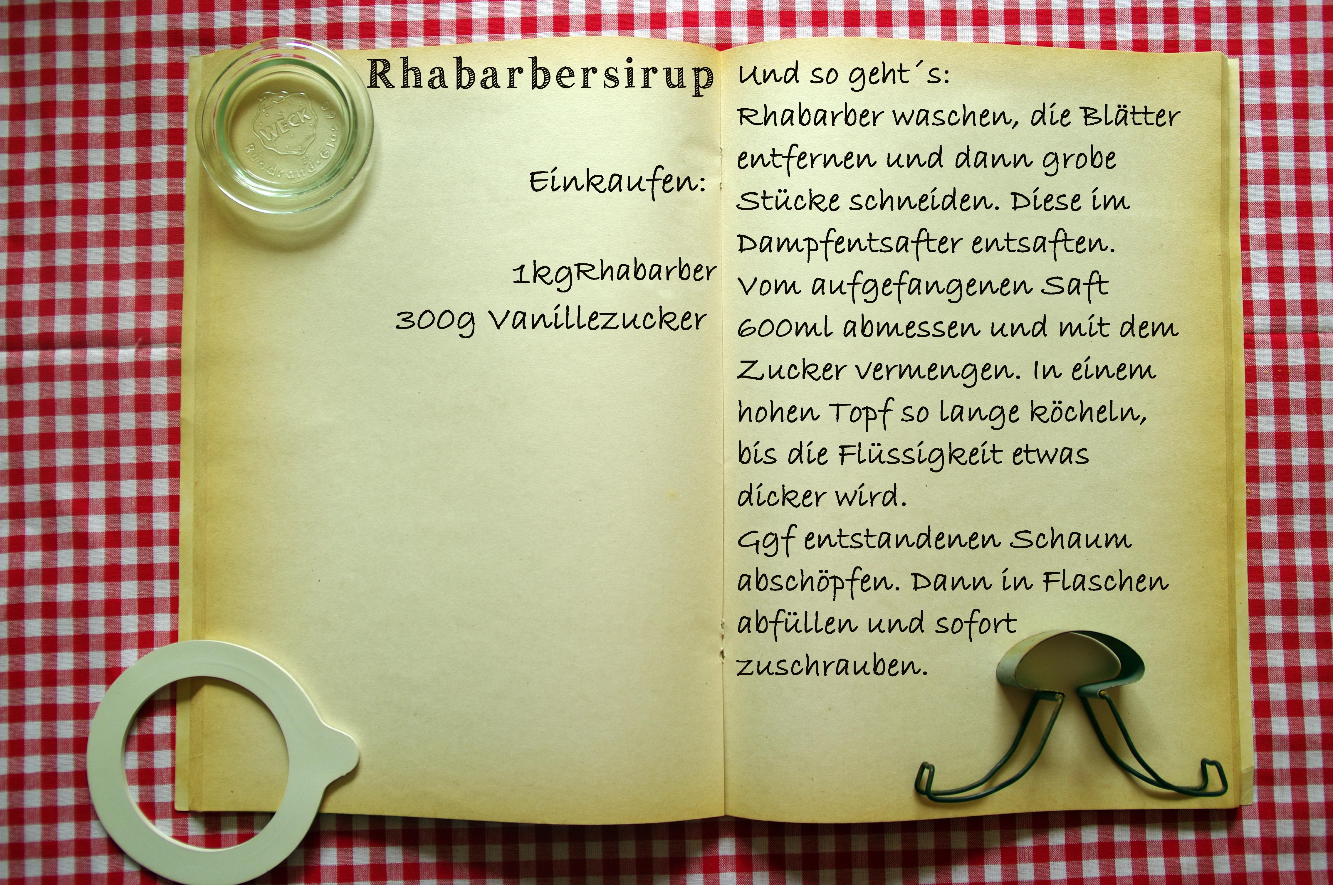 Einkaufszettel Rhabarbersirup by Glasgefluester