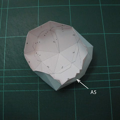 วิธีทำโมเดลกระดาษตุ้กตาคุกกี้รัน คุกกี้รสจิ้งจอกเก้าหาง (Cookie Run Nine Tails Cookie Papercraft Model) 005