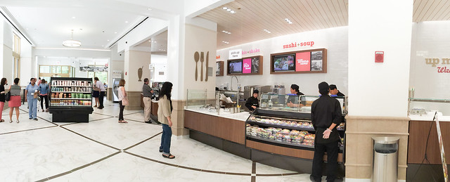 Walgreens sushi in Wrigley Building, Chicago
