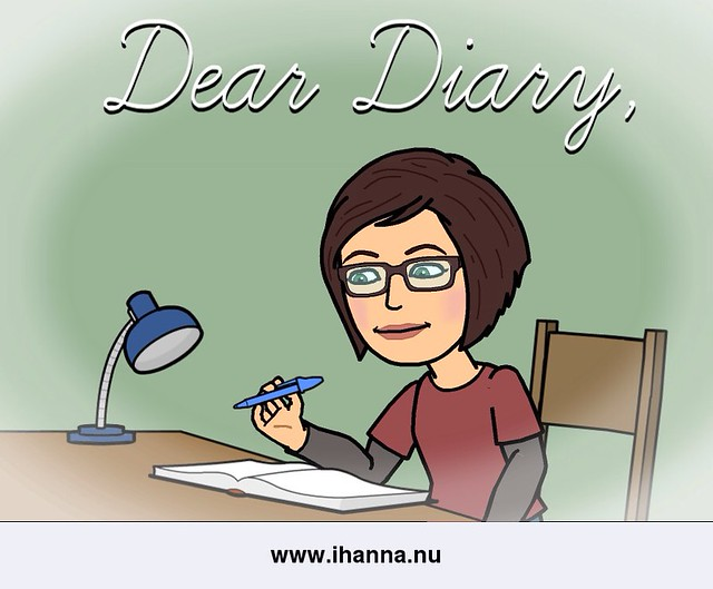 iHanna writing in her diary
