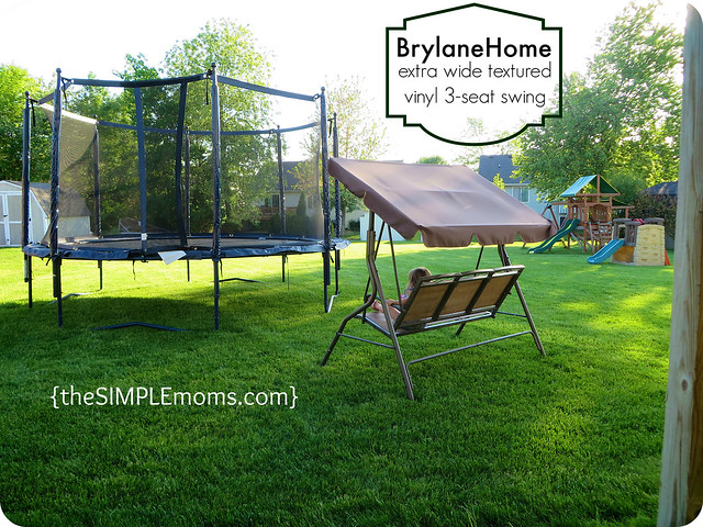 brylane home swing with backyard view