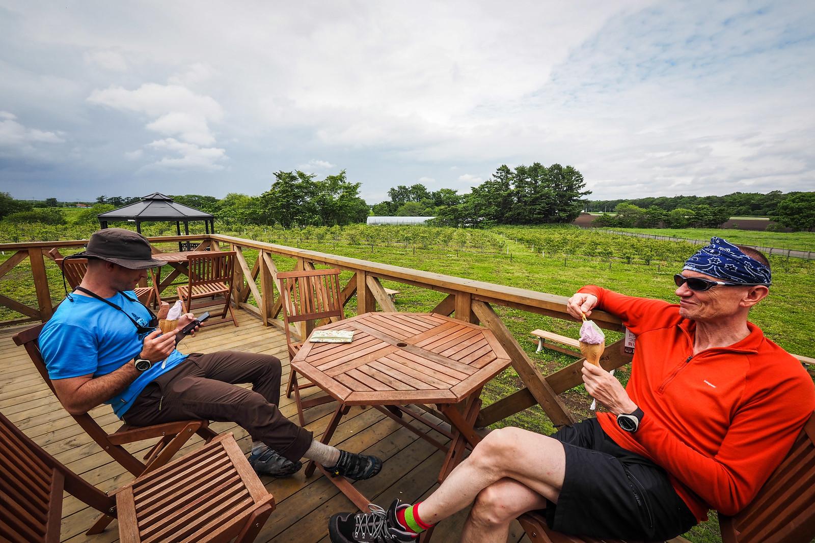 A chance encounter with a gelato place (and blueberry farm) near Eniwa, Hokkaido, Japan