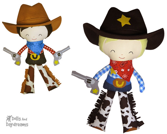 Cowboy sheriff doll sewing pattern