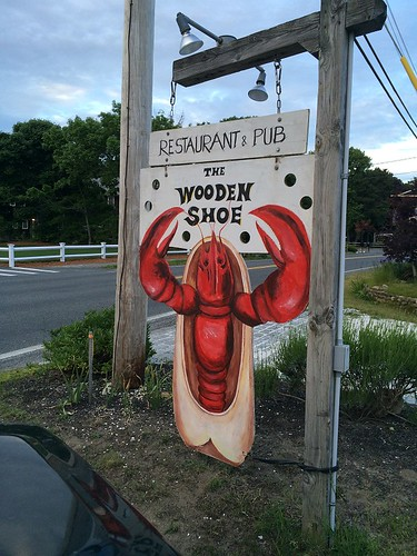 Wooden Shoe Sign
