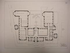 Liverpool Royal Infirmary Nurses Home floor plan, 1923