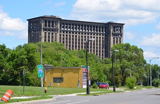 Detroit - Michigan Central from Vernon and Fisher W - July 9, 2014