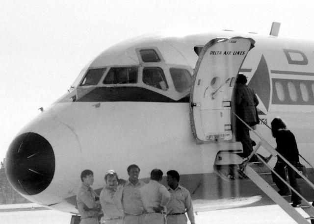 Boarding at Columbia Metropolitan Airport,1973
