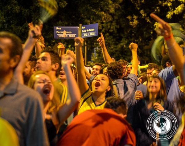 Brazil Goal Fans Cheering World Cup 2014