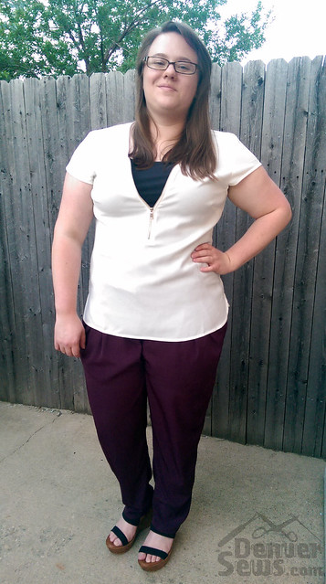 StyleArc Antionette Pants Shirt Untucked