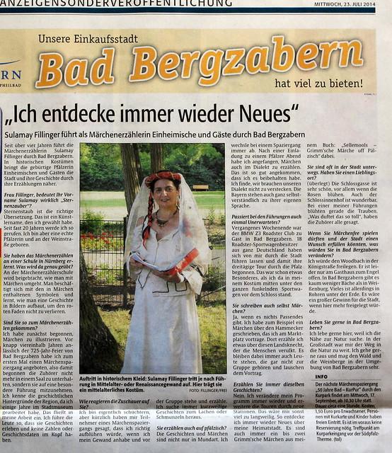 Interview 23.7.2014 in der Rhein-Pfalz