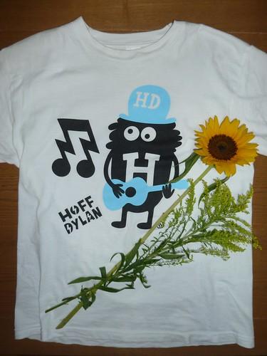 Mr.Hoff Tシャツといただいたヒマワリ