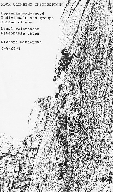 Richard's climbing instruction flyer