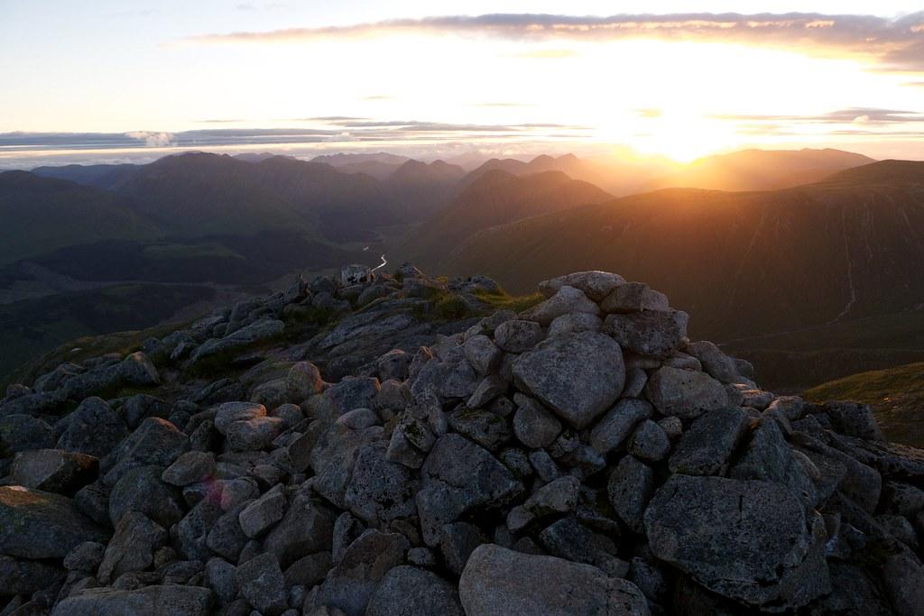 Sunrise from the summit of Ben Starav