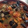 Home cooked paella in Begur! Better than the paella at our wedding. Thanks to our friend Rick.