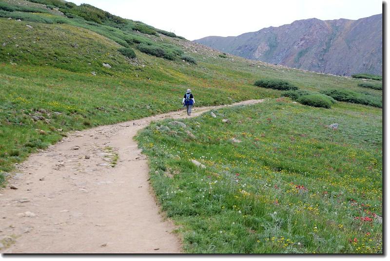 Jacob on his way down mountain