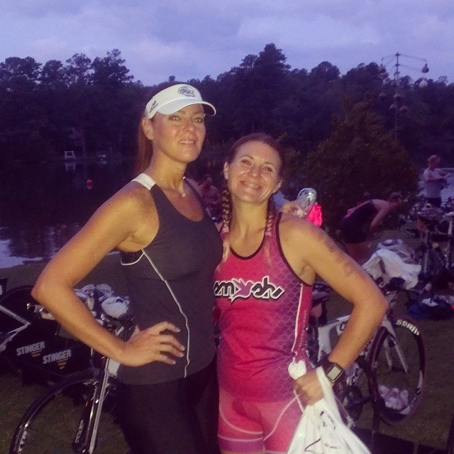 Race morning... #triathletesarecrazy @trishmyrick