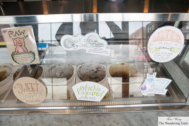 Part of the ice cream display