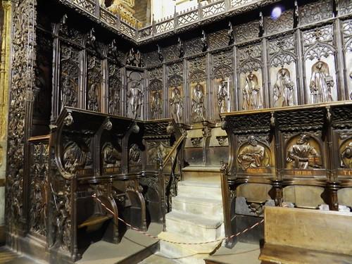 leon interior catedral santa maria de regla león coro