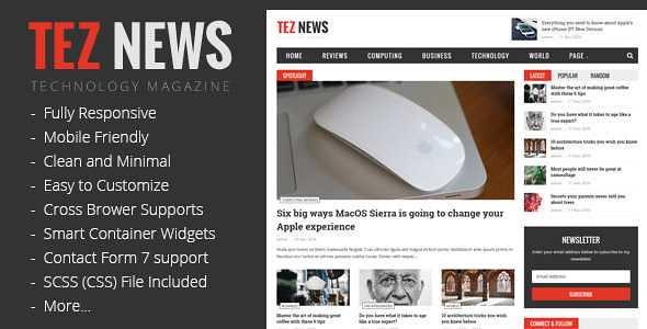 TezNews WordPress Theme free download