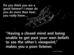 Educational Postcard: Are you an open minded listener?