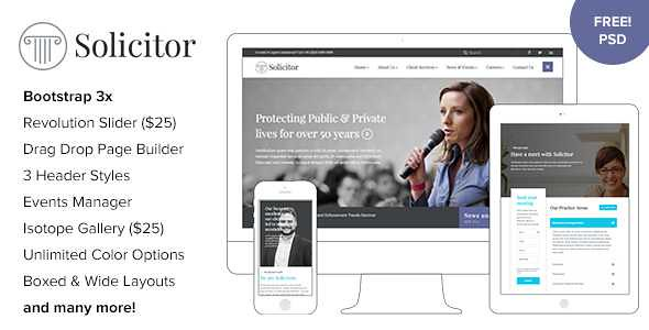Solicitor WordPress Theme free download