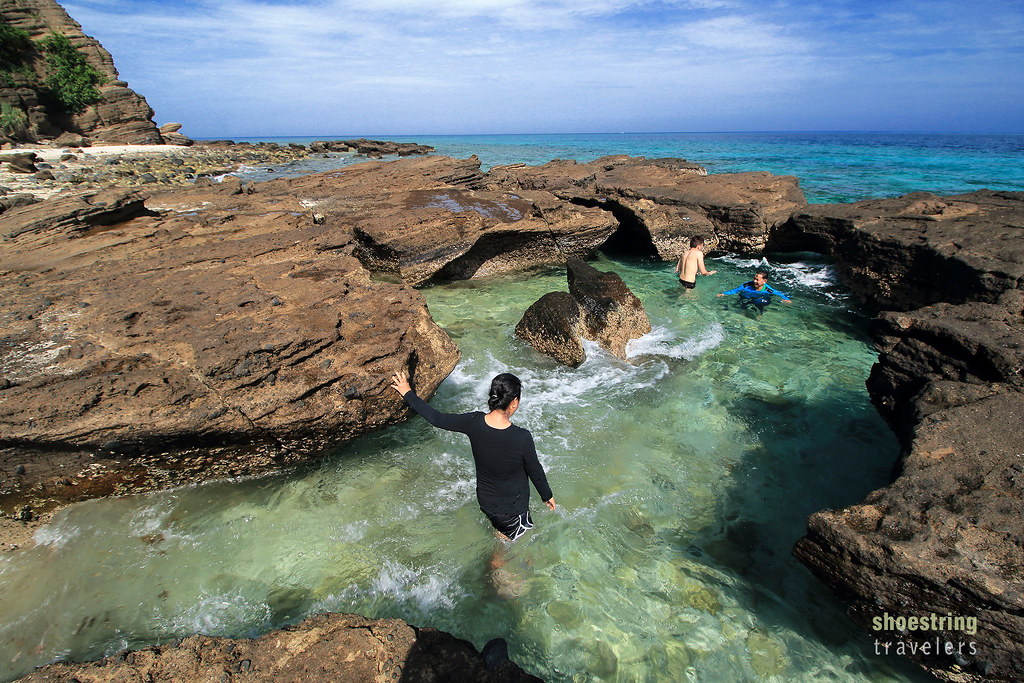 the natural pool at Animasola Island