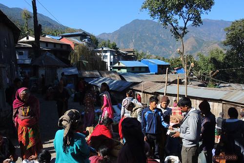 bihibare bâtimentimmeuble marché necha nepal préci personnes solukhumbu village