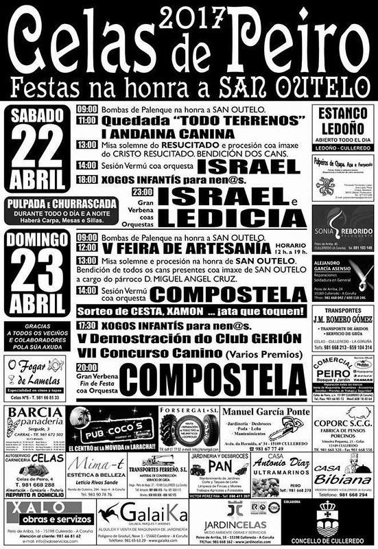 Culleredo 2017 - Festas de Santo Outelo en Celas de Peiro - cartel