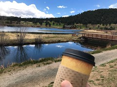 Reward for a great hike....Coffee with a view.