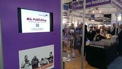 MSc Publishing at the Publishing Scotland stand, LBF 2014