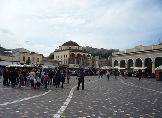 Image of Monastiraki Square near Athens. 2014 lente griekenland greece ελλάδα ελλάσ athens athene αθήνα monastiraki square μοναστηράκι spring