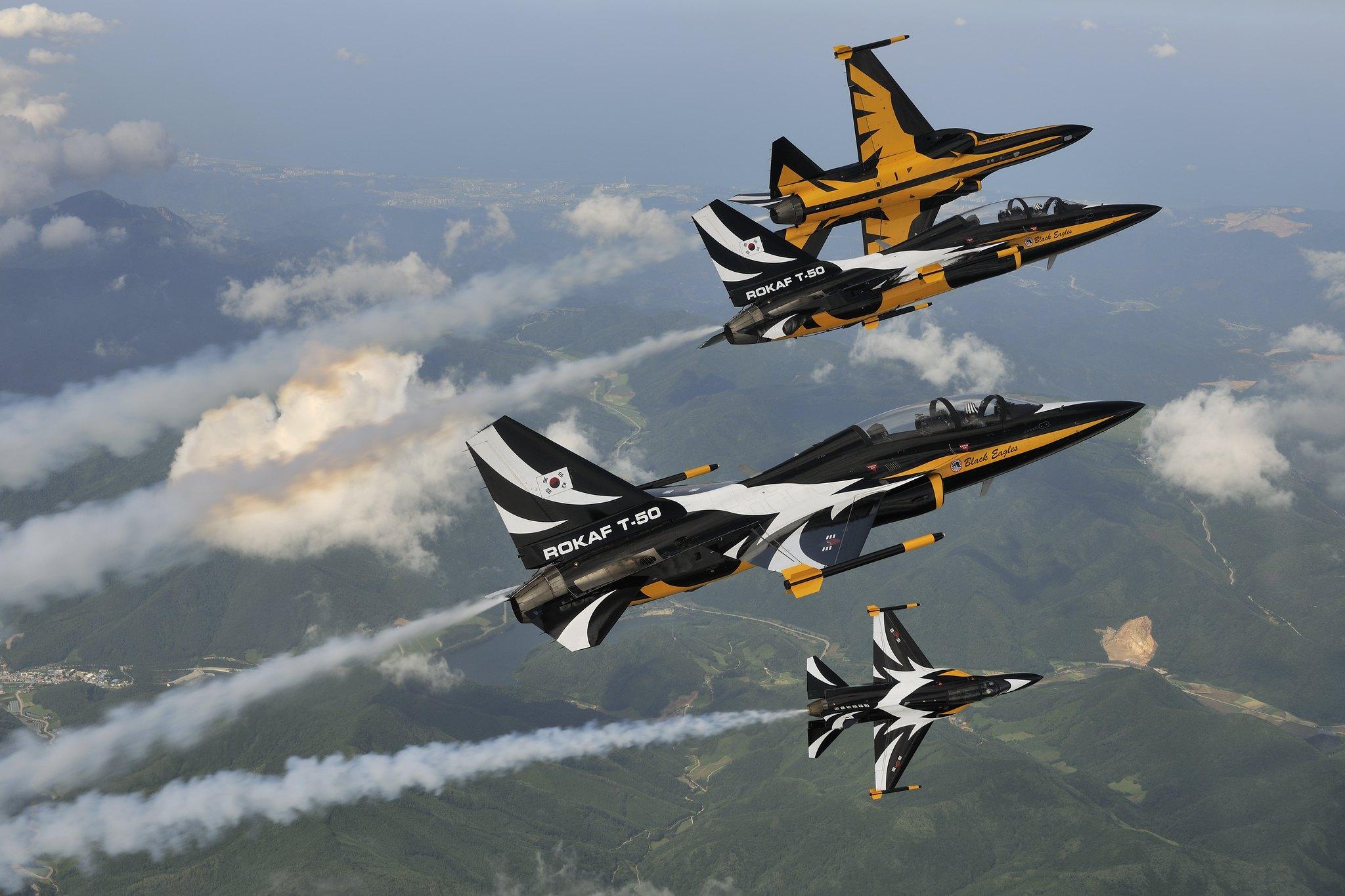 T-50B of the Black Eagles aerobatic team