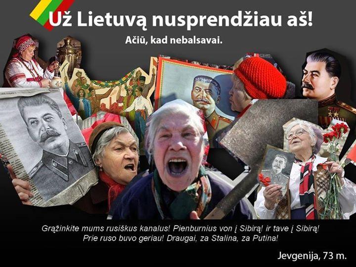 Sovietinės raudonų perforuotų smegenų nekrofilės eis balsuoti, nes daugiau apskritai neturi ką veikti.