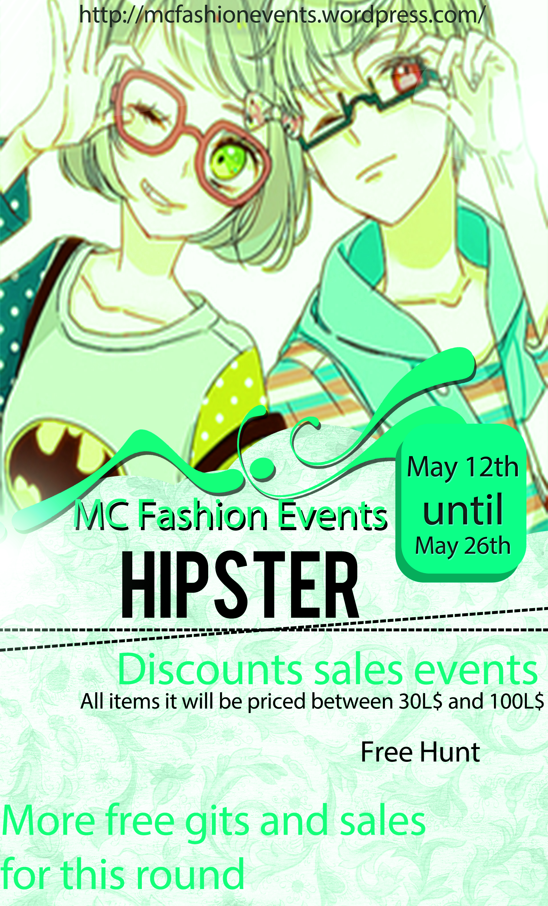 Hipster-Event-poster
